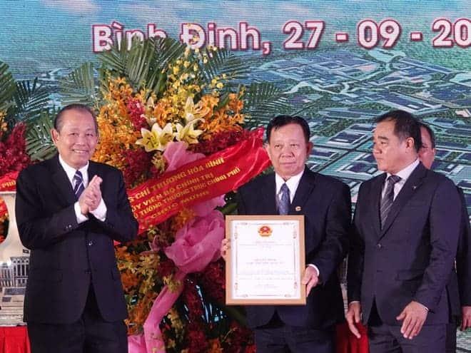 Bình Định: Phó thủ tướng Trương Hòa Bình dự lễ khởi công