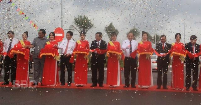 Khánh thành QL 19B trục ngoại giao Khu kinh tế Nhơn Hội City