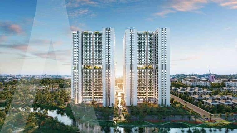 """Tòa tháp The Rigel nổi bật giữa """"trục tĩnh""""của dự án Astra City"""